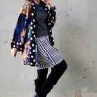 houndstooth knit sweater skirt kimono daily outfit blog whatiwore2day ootd