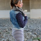 faux fur collar denim vest daily outfit blog ootd whatiwore2day