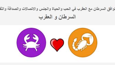 Photo of توافق برج السرطان مع العقرب