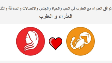 Photo of توافق ابراج العذراء مع العقرب الحياة والحب