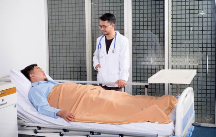 Doctor seeing patient for hospital appointment