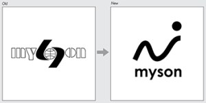 Logo, old and new