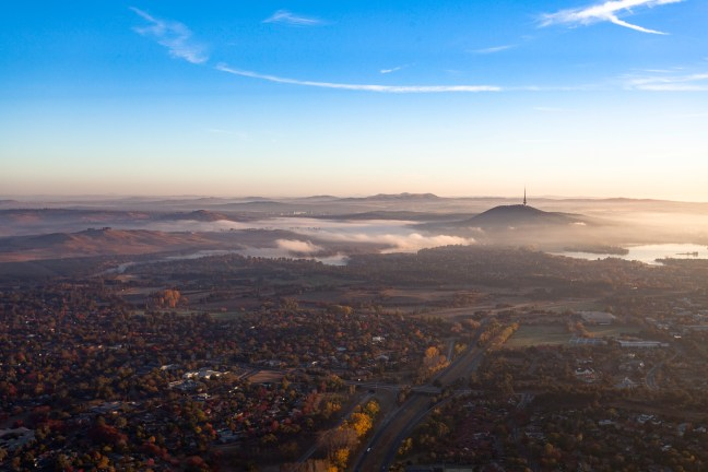 Canberra aerial shot by Tim Benson