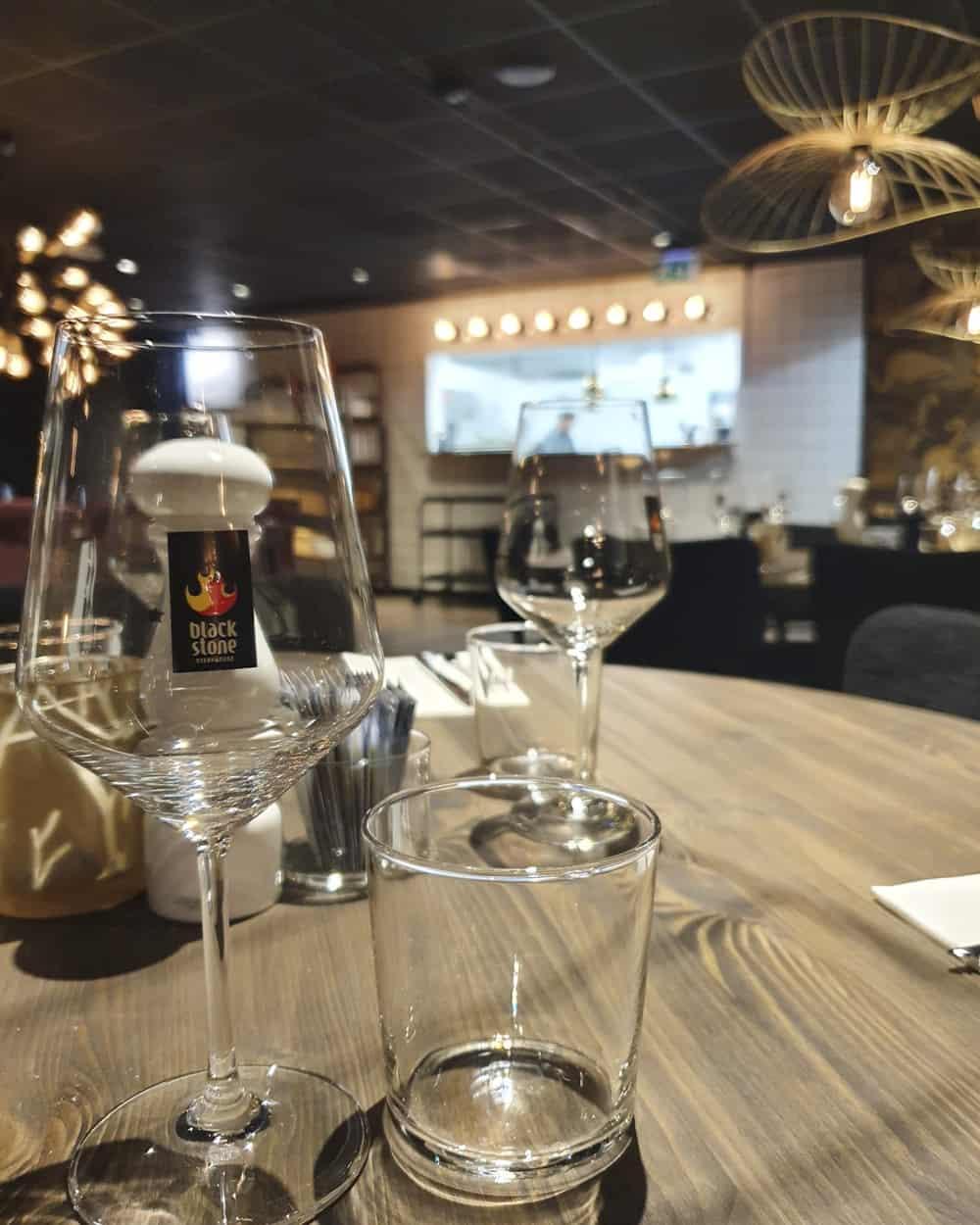 Blackstone Steakhouse glas