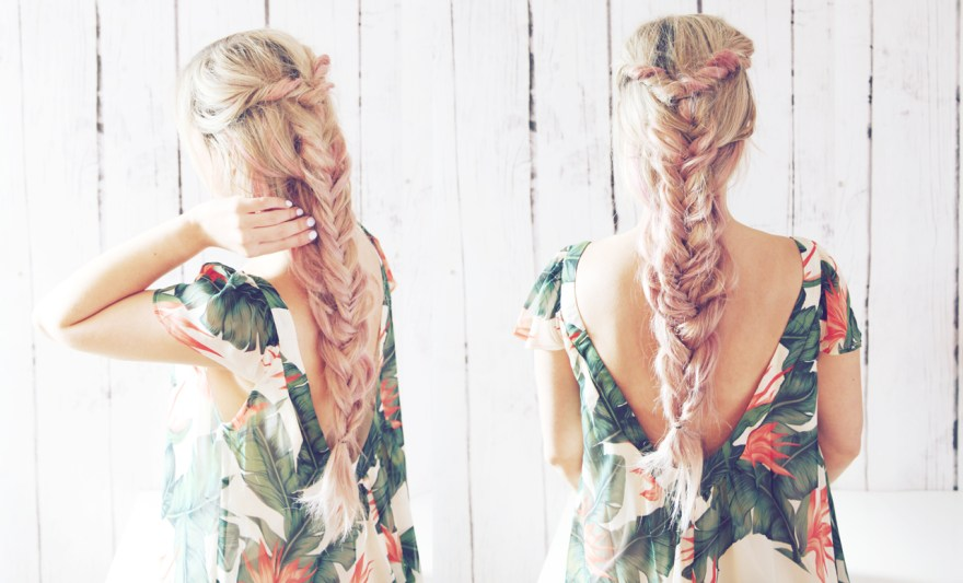 Double Boho Braid Hair Tutorial