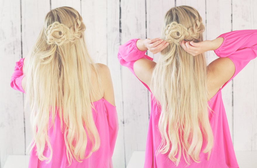 Half-up Braided Flower Hair Tutorial