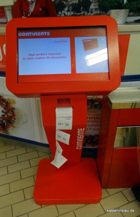 Rabattcoupons aus dem Automaten