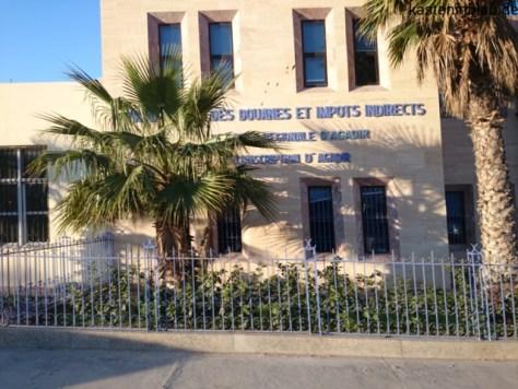 Zollgebäude im Hafen von Agadir