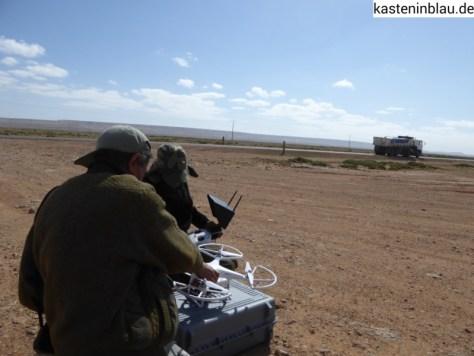 Quadrocopter des TV-Teams