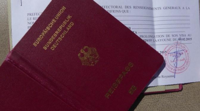 Verlängerung der Aufenthalts-Genehmigung in Laayoune