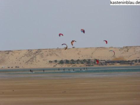 Dakhla-Kilometer 25-Kiters Paradies