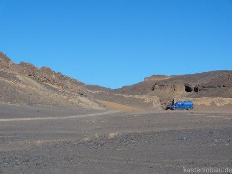 Vulkanberg mit Fossilien Marokko