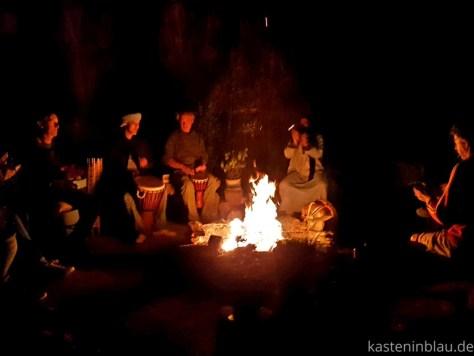 Marokko: Camping Aain Nakhla kasteninblau