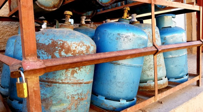 Gasflaschen in Marokko