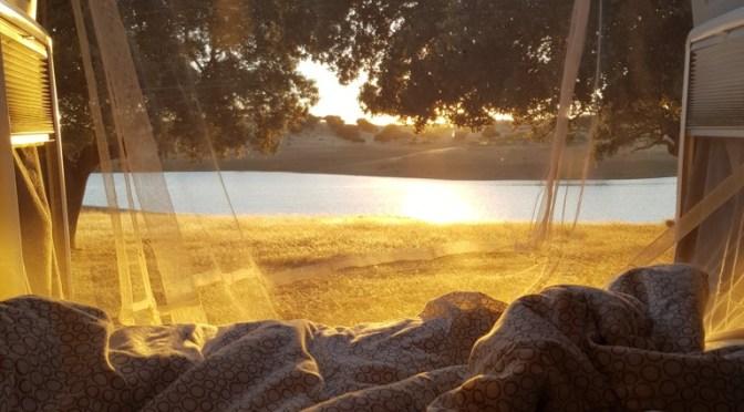 Mückenschutz / Fliegenschutz / Moskitonetz über dem Bett im Wohnmobil