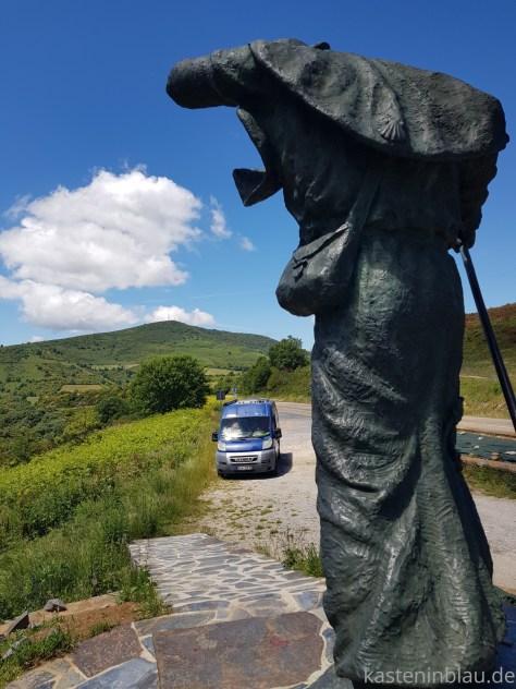 Pilgerdenkmal am Jakobsweg