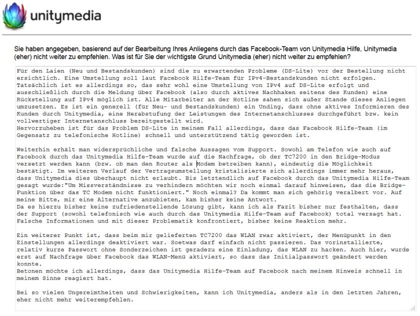 Unitymedia - Umfrage