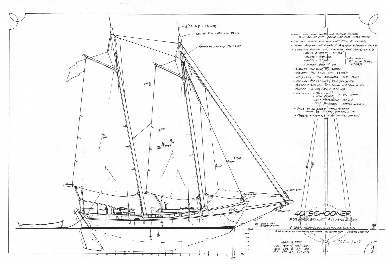 Wood Canoe Plans Schooner Plans Hallett Boats Baron