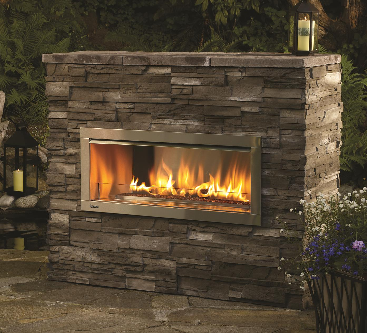 Outdoor Gas Fireplaces - Horizon HZO42 - Kastle Fireplace on Outdoor Gas Fireplace For Deck id=60230