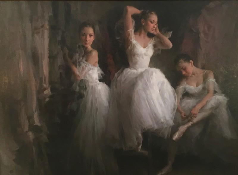 Ballerina Wardrobe Whispers By Stephen Pan, Oil Painting