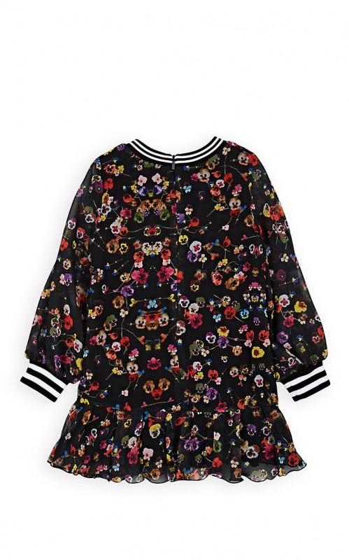 Givenchy Kids' Pansy-Print Chiffon Dress