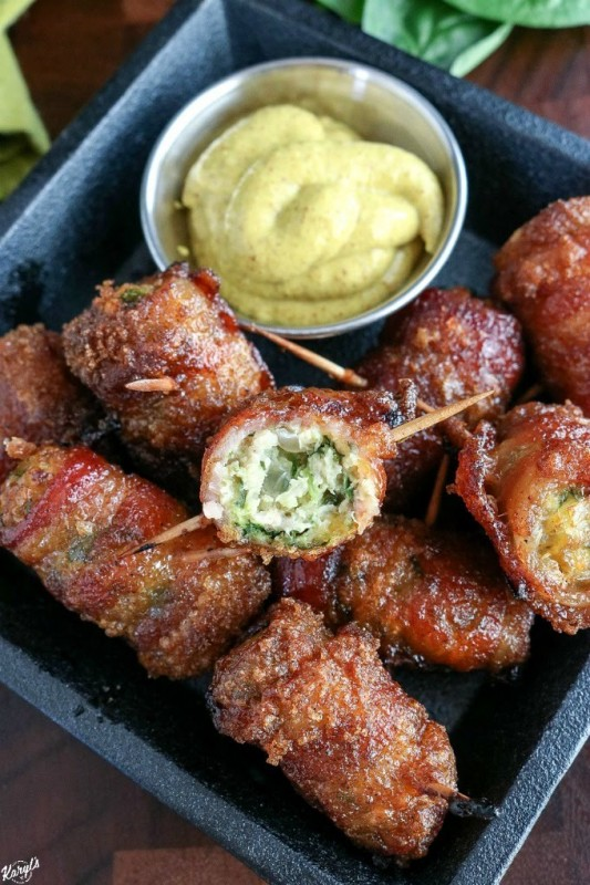 Bacon Wrapped Chicken Meatballs