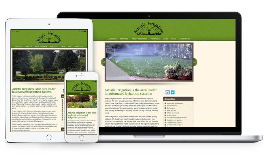 Responsive Web Design for Artistic Irrigation