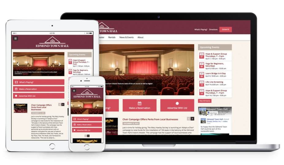 Edmond Town Hall Responsive Web Design