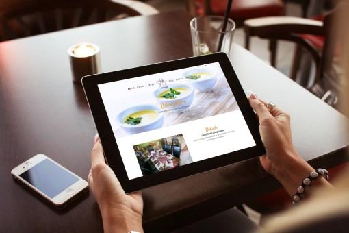 Étterem reszponzív weboldala tableten