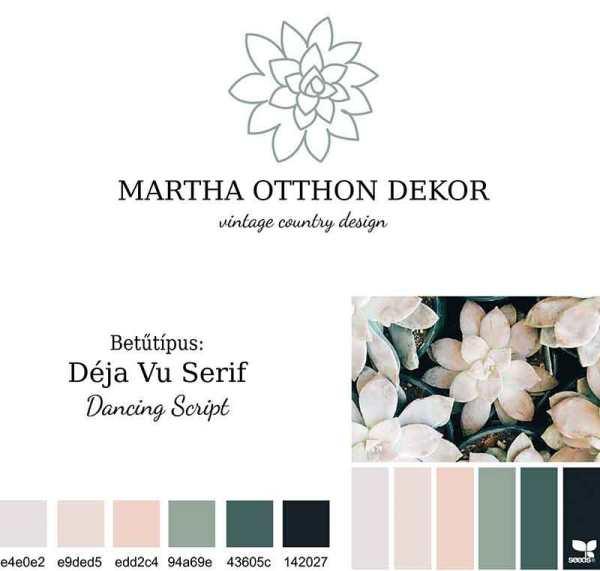 Martha-brand-board-2-low-quality-webre, Martha pecsét, Martha elsődleges logó, Martha kövirózsás, letisztult, natur szín, nőies logó kisvállalkozásoknak. Kozmetika, natur termékek, virágüzlet, illóolaj, parfume, holisztikus vállalkozás, terapeuta, coach, kézműves vállalkozás, lakberendező egyedivé teheti vele a vállalkozását.
