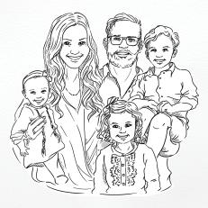 Portret rodziny SacconeJoly