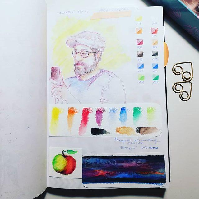 Instagram - Watercolour pencils Albrecht Durer #watercolor #pencils #crayons #sketchnearlyeveryday #sketchbook #drawing #art #artwork #illustrator #analogillustration #people #portrait #test #sketching #instaart #instadraw #sketch #szkic #szkicownik #rysunek #testkredek