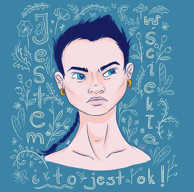 Instagram - Nerwowy dzień. Jesteśmy już 7 tygodni w #selfisolation Najpierw zapalenie oskrzeli. Potem cały świat zachorował na coś gorszego i mamy co mamy. Trzeba to przetrwać #bluemood #anger #fillings #uczucia #złość #zostańwdomu #kwarantanna #irytacja #procreate #procreateillustration #plakat #emocjesąważne #illustrator #illustration #kobieta #woman #instamama #emotions #portrait