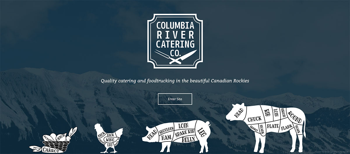 Columbia River Catering Co landing page screenshot