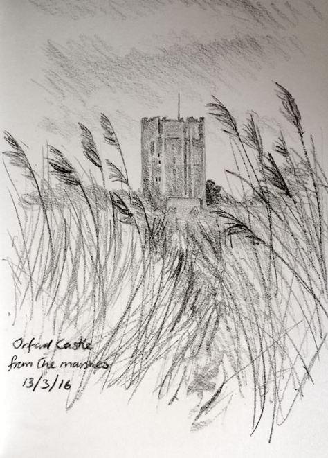 Kate batchelor, orford sketch of castle