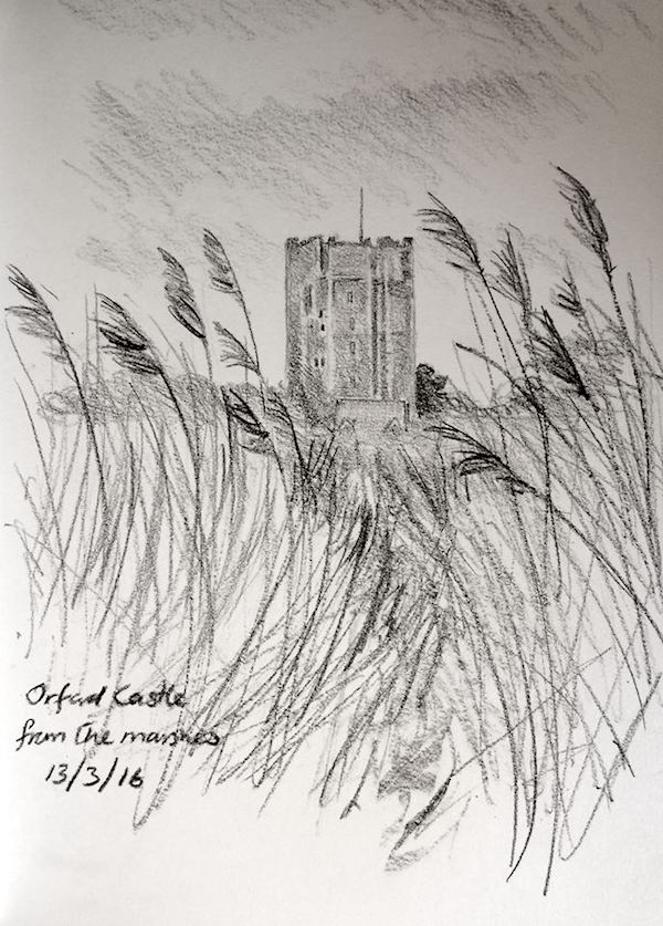 Kate batchelor, orford sketch of castle