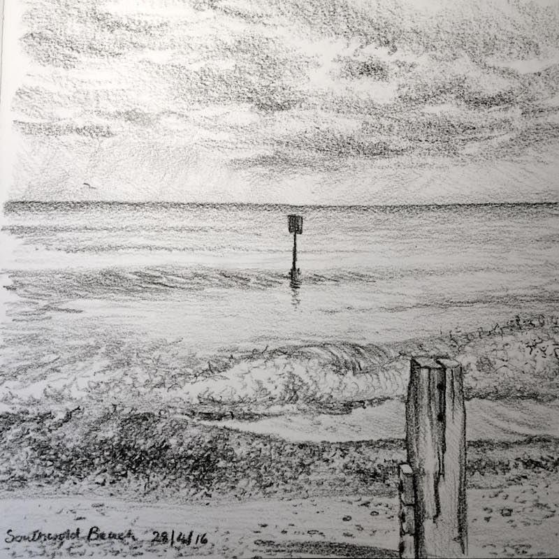 Southwold Beack sketch 119