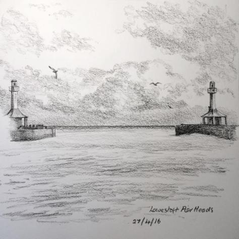 lowestoft pier heads sketch 118