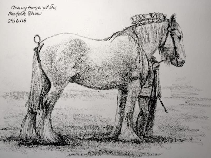 Heavy Horse sketch 181