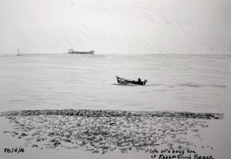 Life on a busy sea sketch 180