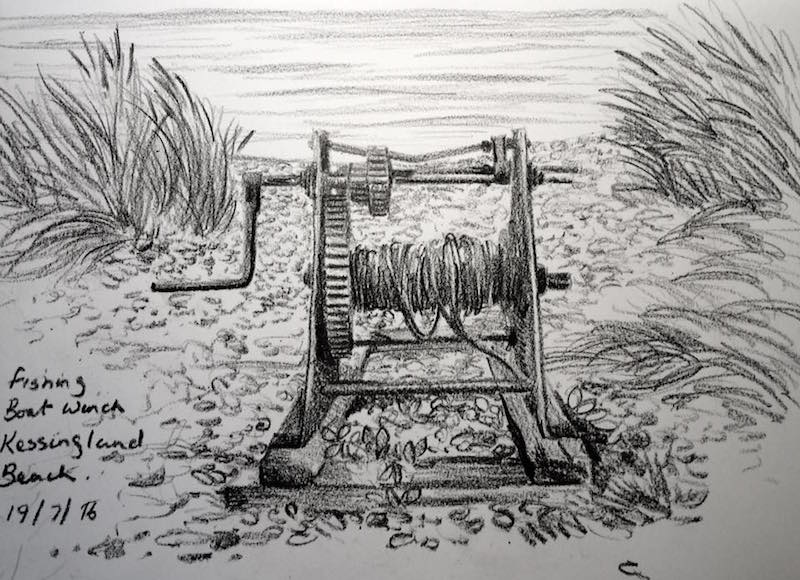 Fishing boat winch sketch 201