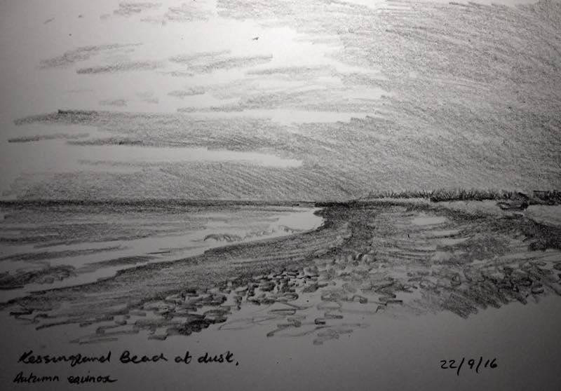 kessingland beach at dusk 266