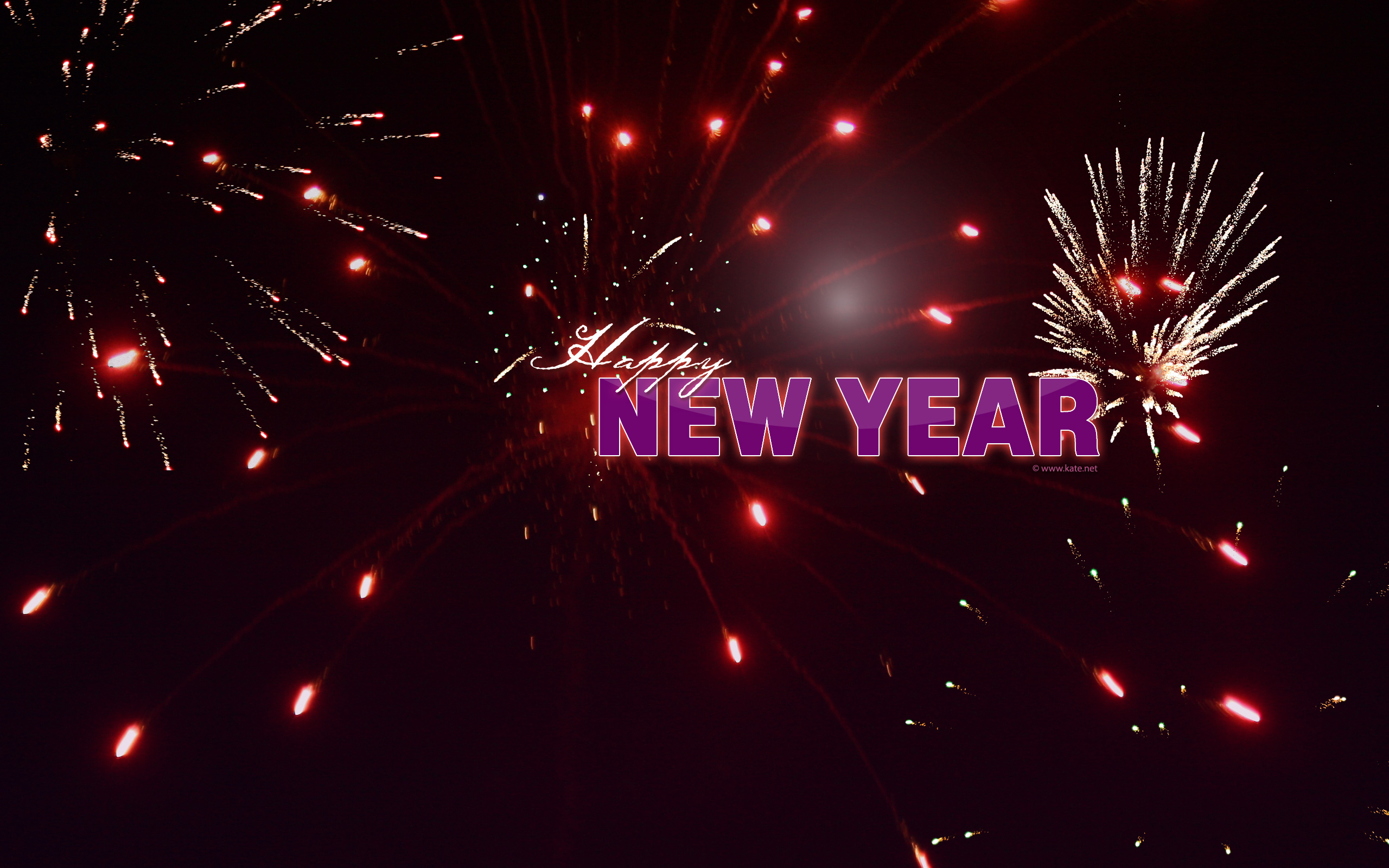 firework new year screensavers