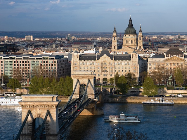 View from Buda to Pest side