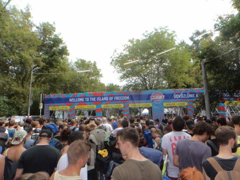 Entrance to Sziget can get pretty crowded