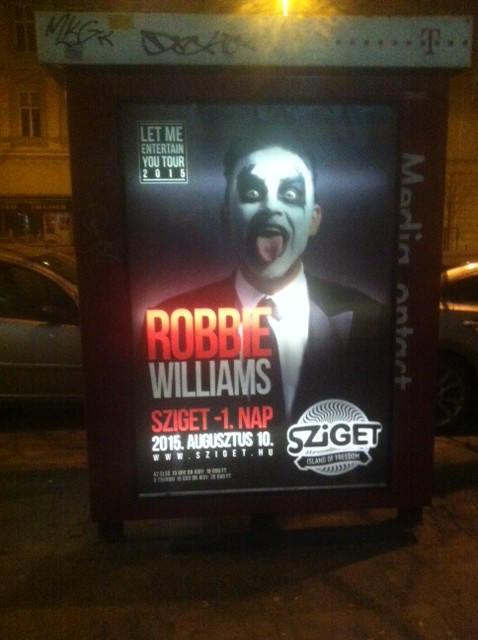 poster sziget billboard robbie williams telephone booth