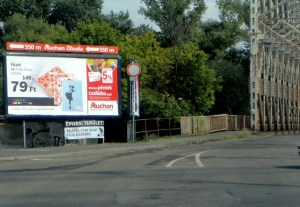 billboard auchan construction area building sziget festival
