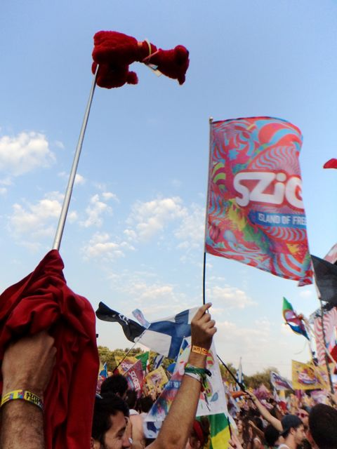Flag party at Sziget festival