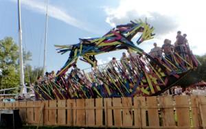 Art at Sziget - rocking horse
