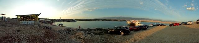 Zrce beach panorama
